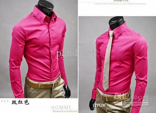 Malik Stitchers ملك : Boys Shirts in Shocking Pink | Men's ...