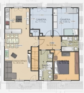 Art craft diy progetto casa 1 definitivo la - Disposizione stanze in una casa ...
