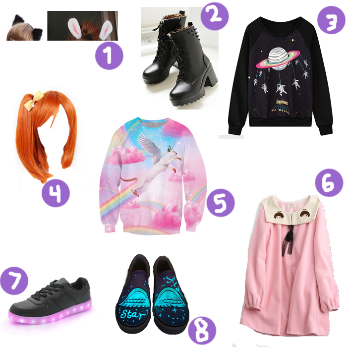 cute, Harajuku, Gyaru, Wishlist, Setembro, Dress, Shoes, Pulover, neko, Crazy and Kawaii Desu, Kawaii Desu,