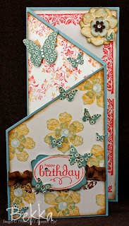 Adorable Birthday Card by Bekka featuring the Vintage Vogue Stamp Set.  www.feeling-crafty.co.uk