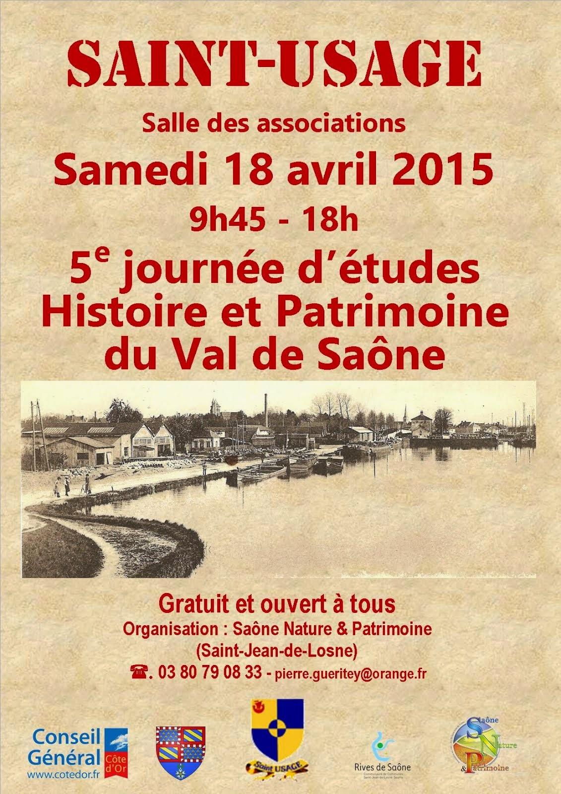 Bulletin d'inscription à la 5e Journée d'e Rencontres Histoire et Patrimoine du Val de Saône