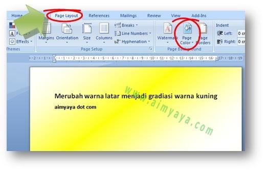 Cara Merubah Warna Background Latar Kertas Di Microsoft Word