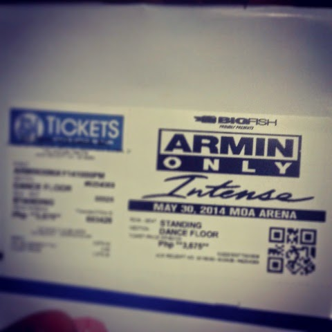 Armin Only Intense Tour Live in Manila 2014 Ticket