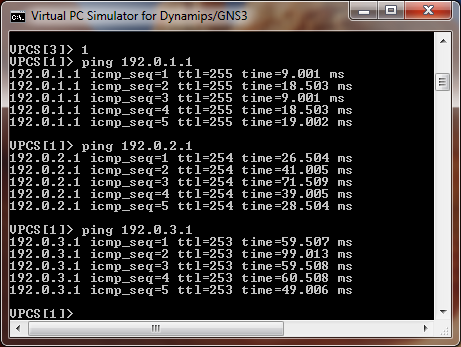 Ping IP address in  VPC Simulator