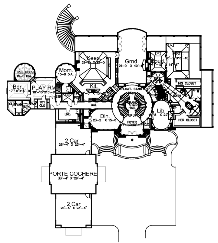Mansions More European Mansion Design with Floor Plans