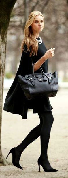 Ralph Lauren designed black fall fashion