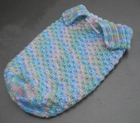Knitting Stich Patterns : Suzies Stuff: COLLARED SLEEP SACK