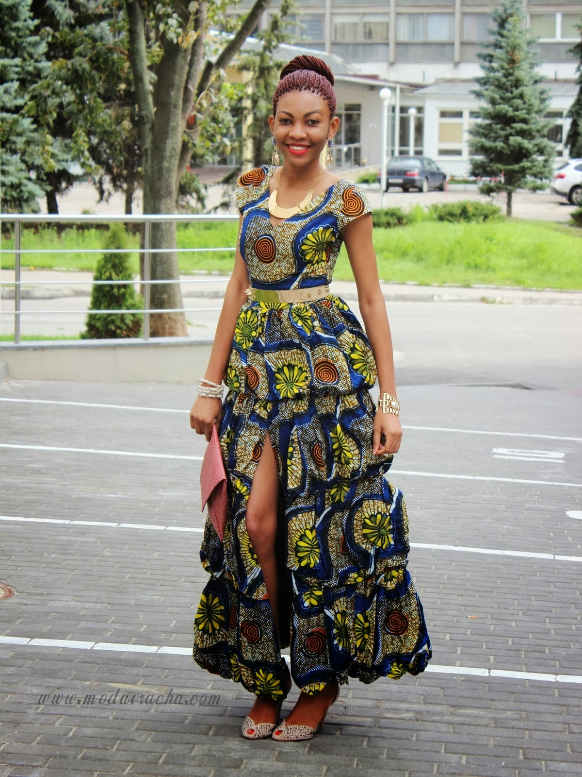 Kakki Chitenge Design Alert The High Slit With A Maxi