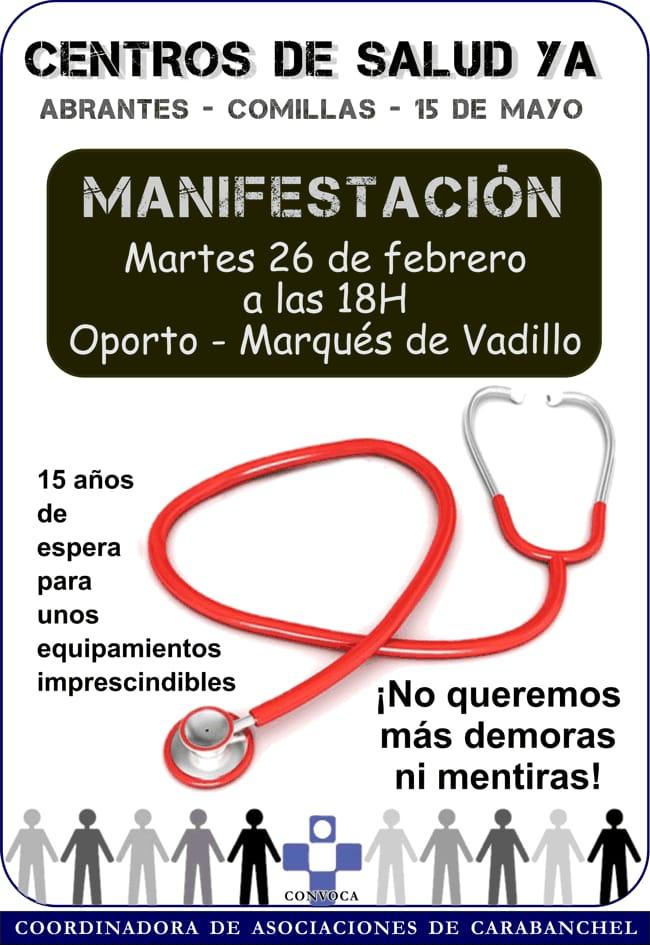 26 febrero En Carabanchel por la Sanidad Pública