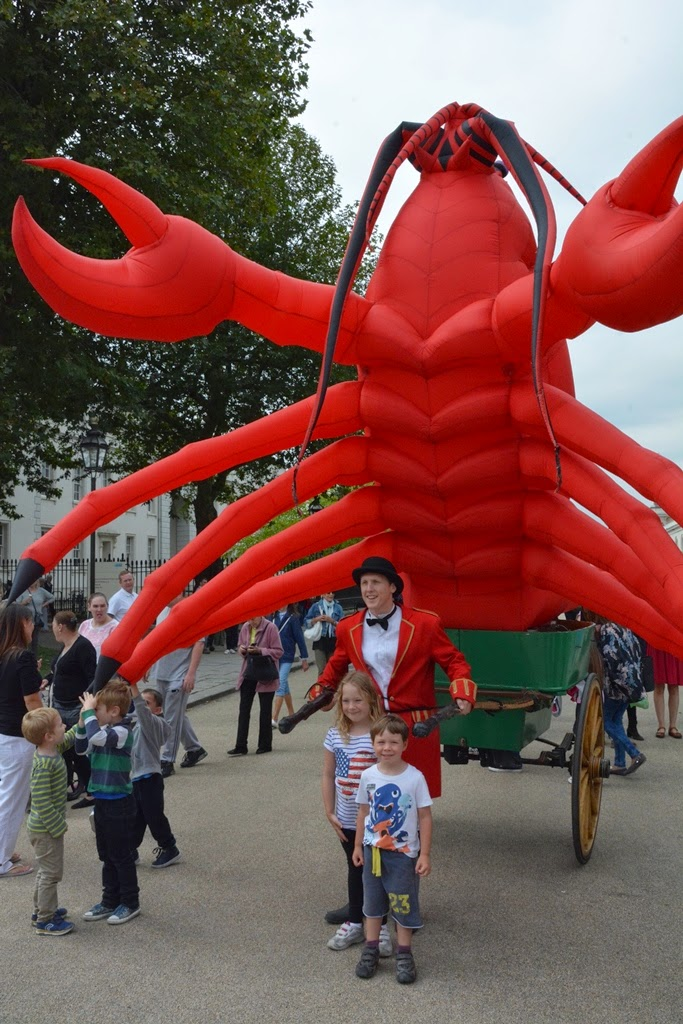 Greenwich giant plastic lobster