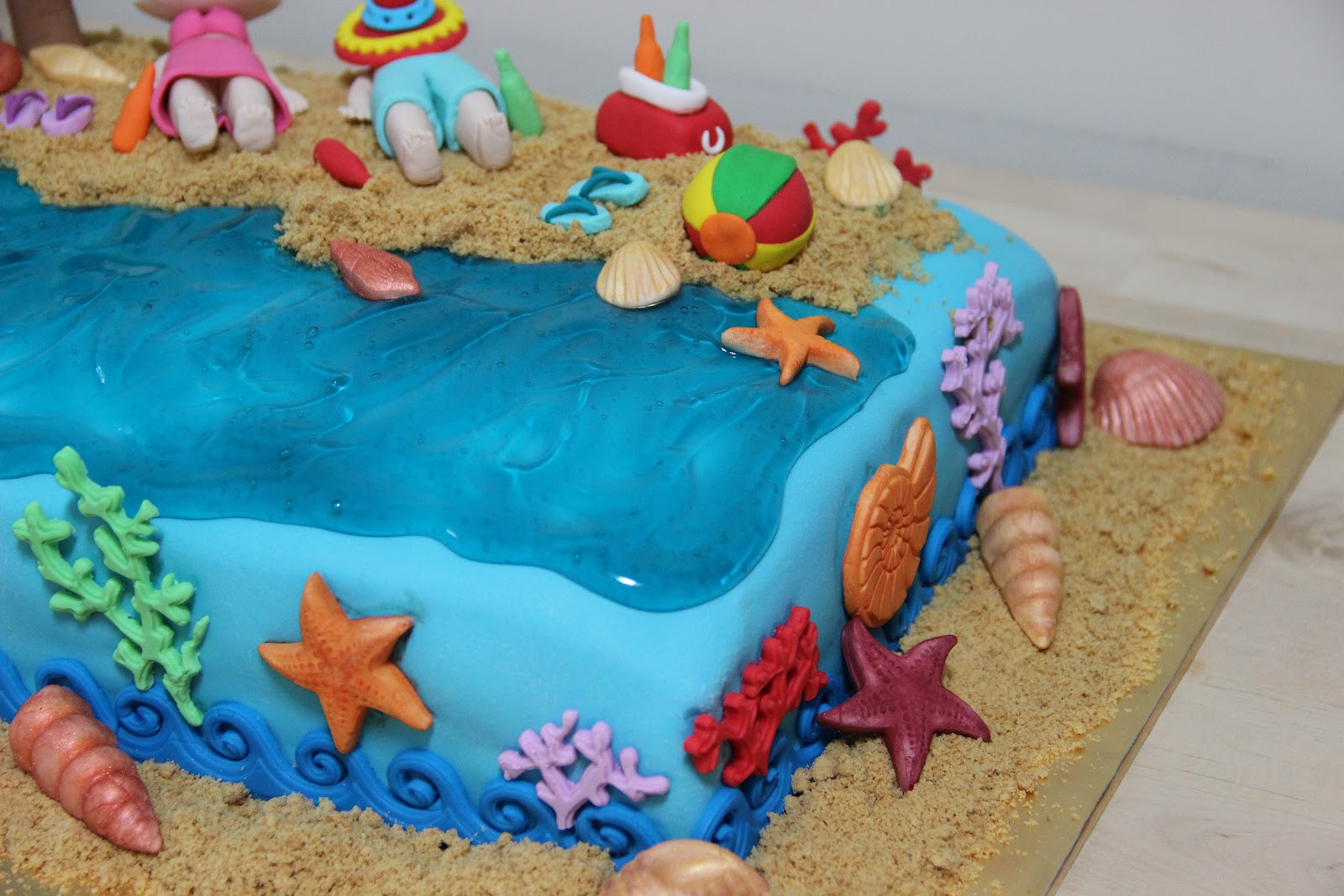 Cake Images With Name Nandini : Temptations: Beach Theme Cake