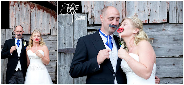 moustache bride and groom, props, whitley chapel, st helens church wedding, whitley chapel wedding, curly farmer, katie byram photographer, one digital image, northumberland wedding photographer, wedding wellies, wedding jewellery