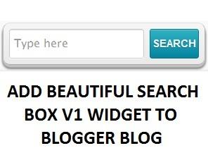Blogger Widget Beautiful Search Box Version 1