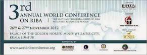 3rd WORLD RIBA Conference 2012