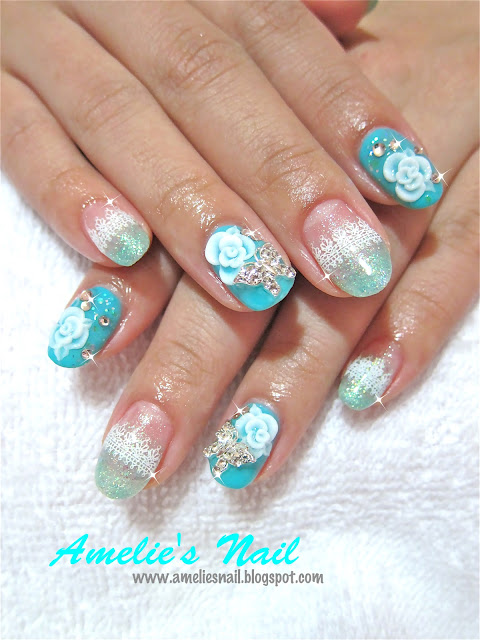 Classy nail designs with glitter