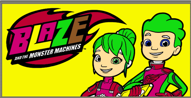 Blaze And The Monster Machines Coloring Game Video