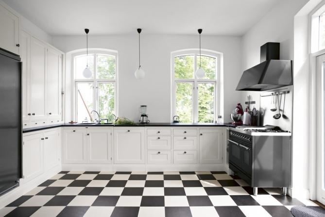 Kok Retro Kvanum : kvonum kok retro  Vintage chic Kjokken i svart og hvitt Black and