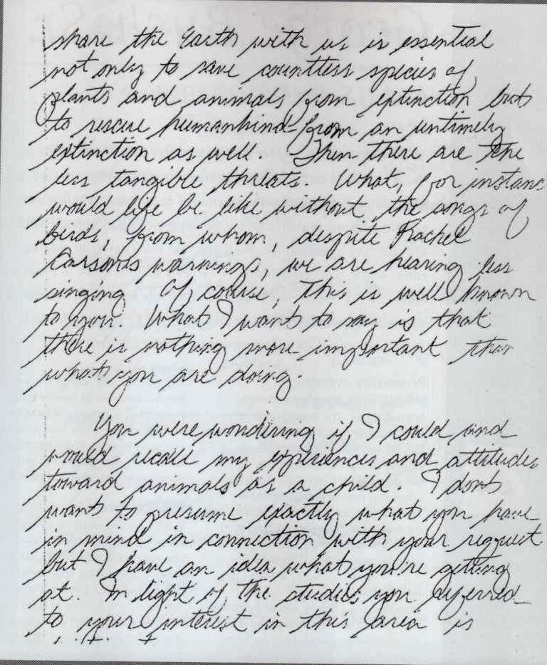 Handwriting Analysis Samples of a triple murderer?