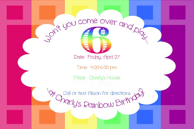 Rainbow Party {invitation}
