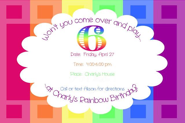 Rainbow Party {invitation}