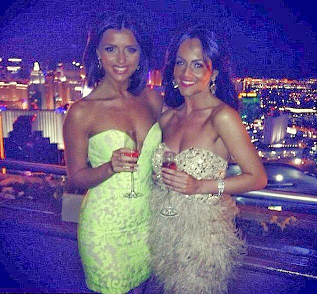 Lucy Mecklenburgh shared her night out around the Wynn casino and resort in a bright yellow short dress