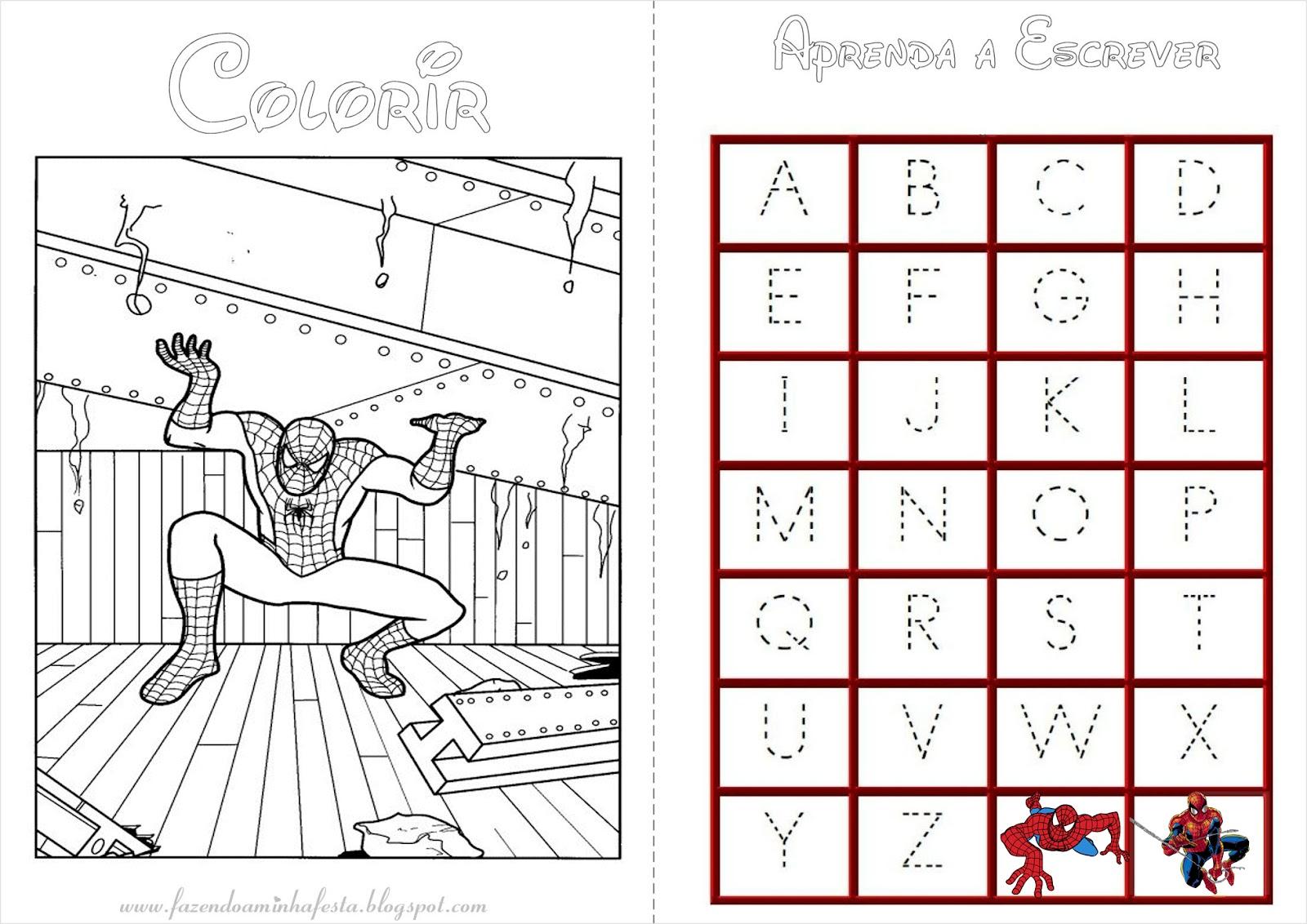 imagens para colorir do homem aranha - Jogo Pinte o Homem Aranha em Ação Jogos de Pintar