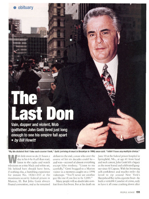 a biography and life work of john gotti an american mobster from the south bronx John gotti was born in the bronx gotti attempted to work legitimately in 1962 as a the american media dubbed gotti the teflon don in.