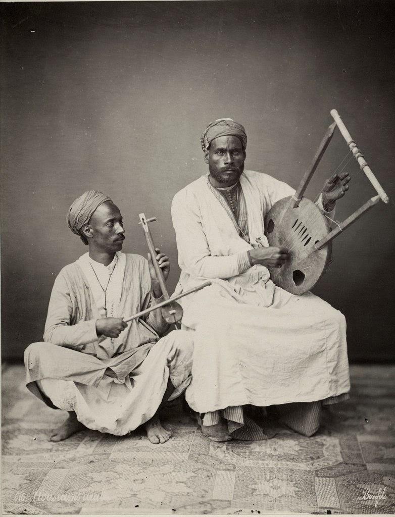 Arab Musicians - Vintage Photograph, Egypt, c1880's