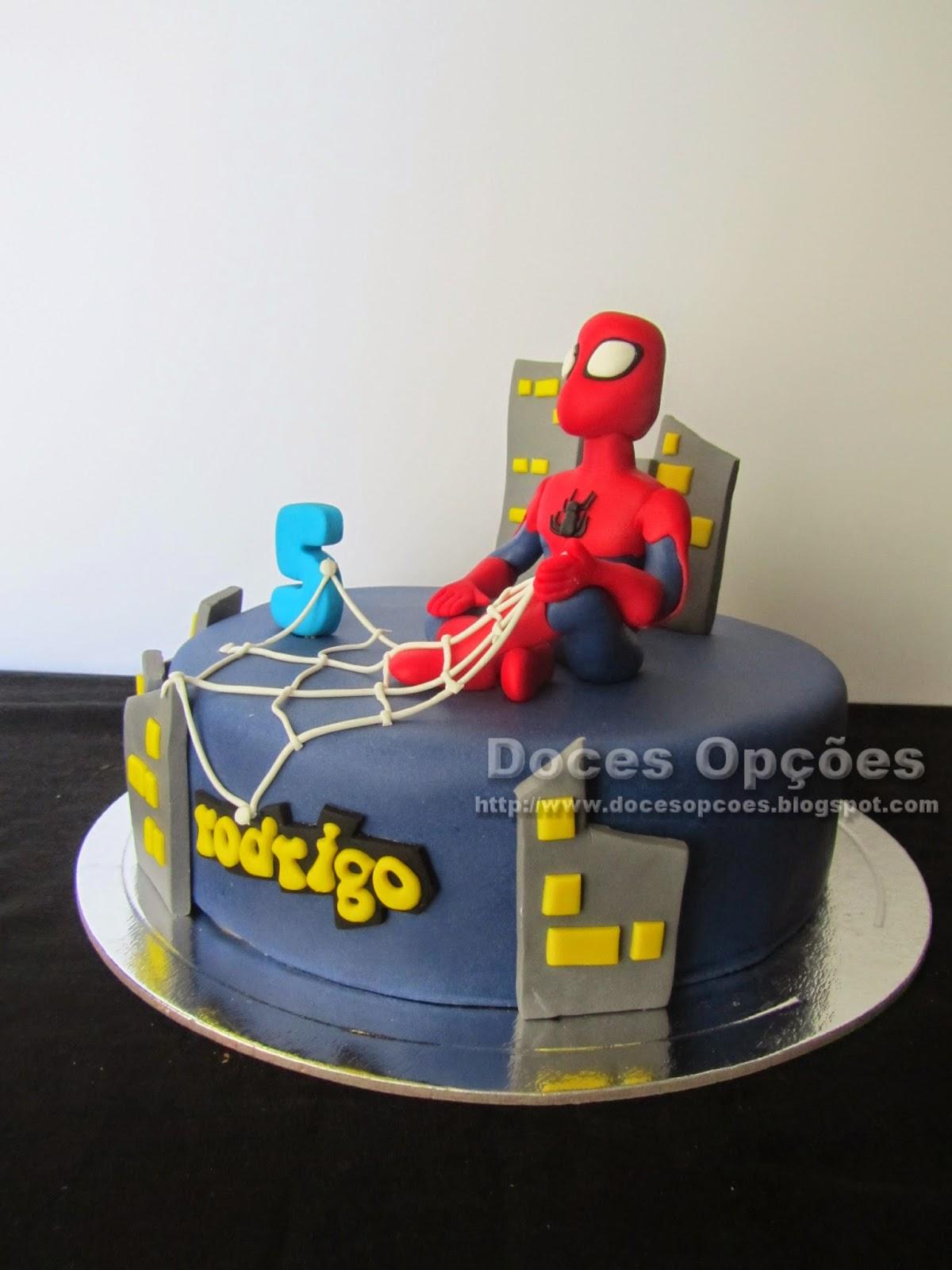 Torta de cumpleaños con Spiderman