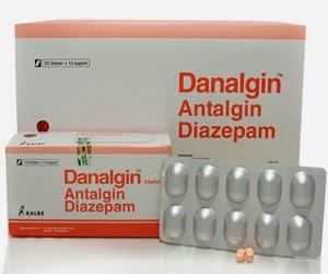 DOSIS OBAT DANALGIN  (Metampiron, Diazepam)