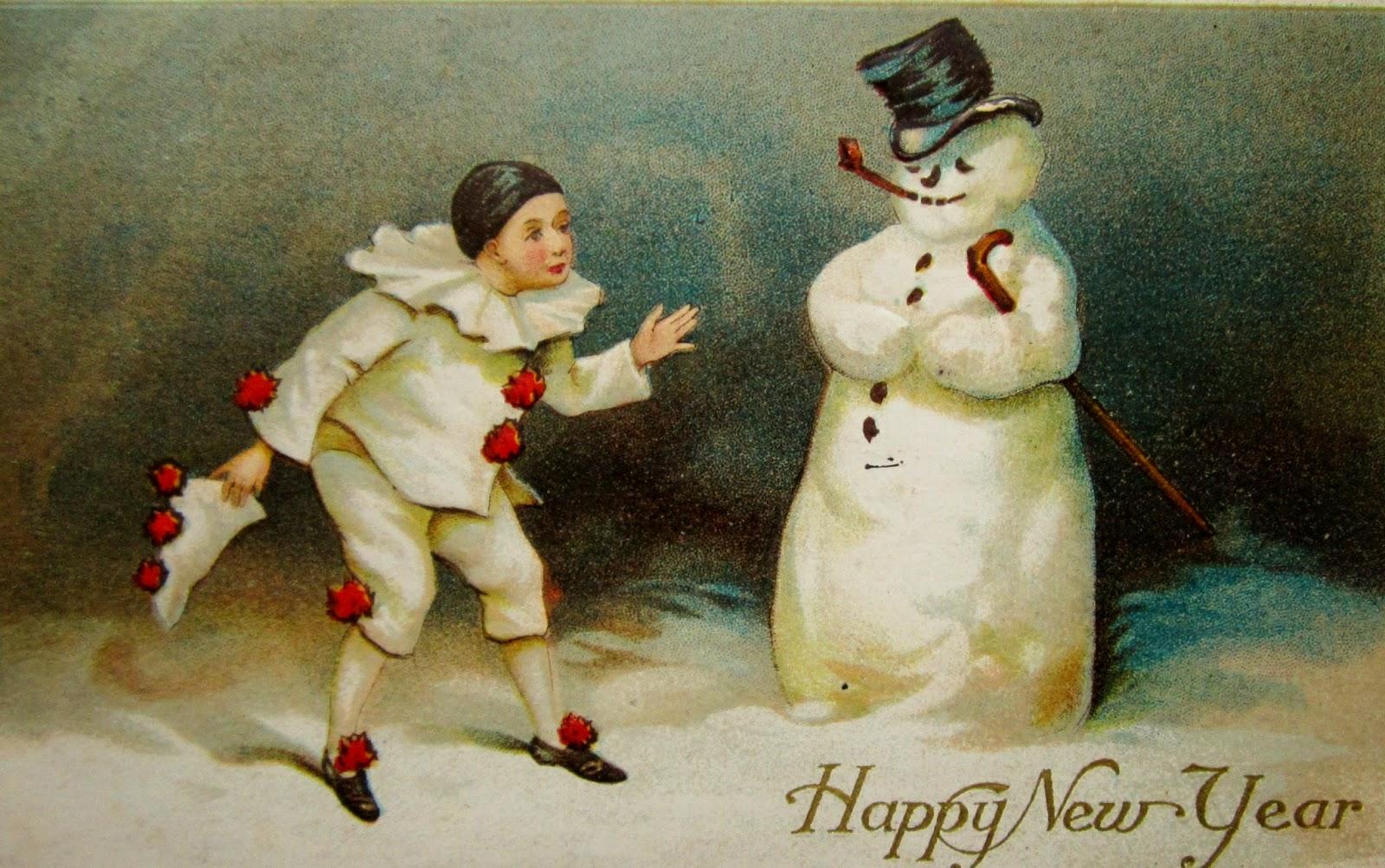 Vintage Snowman Postcards 33