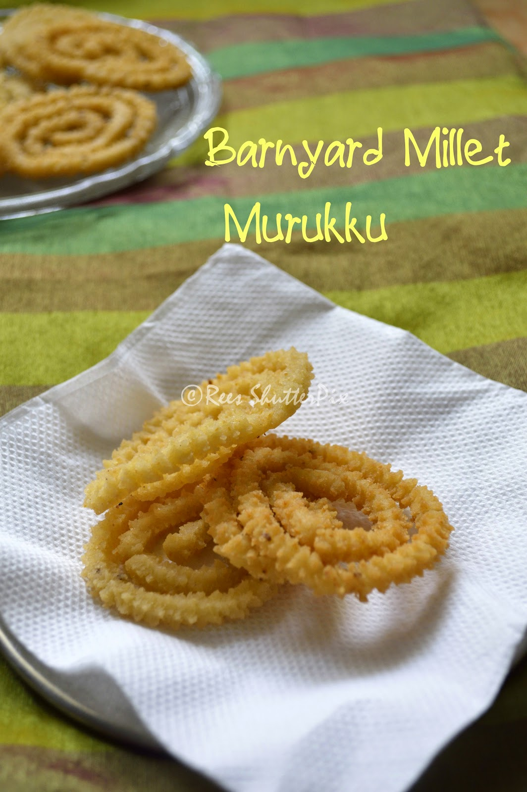 Kuthiraivali Murukku | Barnyard Murukku | Millet Recipes, easy millet recipe, Barnyard Millet Recipes, Snacks, Savoury Snacks, Festive Snacks, Murukku Recipes, easy millet snack