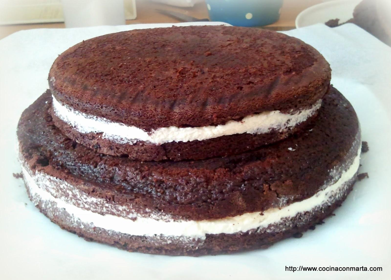 Tarta de chocolate y nata for Funda thermomix ikea