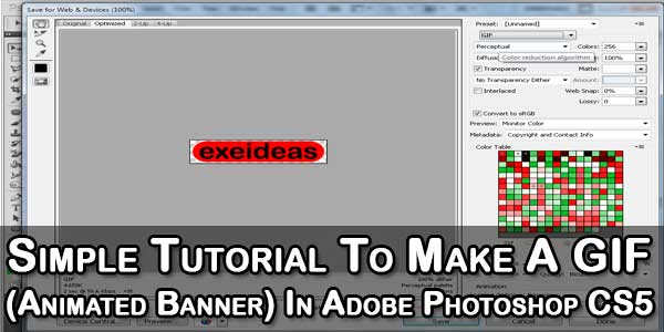 Simple Tutorial To Make A GIF (Animated Banner) In Adobe Photoshop CS5