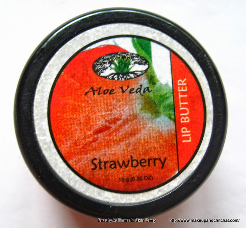 Review of Aloe Veda Lip Butter in Strawberry