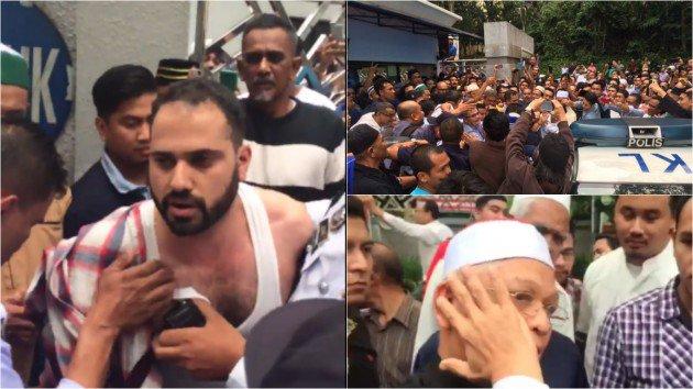 VIDEO - Imam Masjid Negara Ditampar 'Pak Arab' Semasa Solat Jumaat?