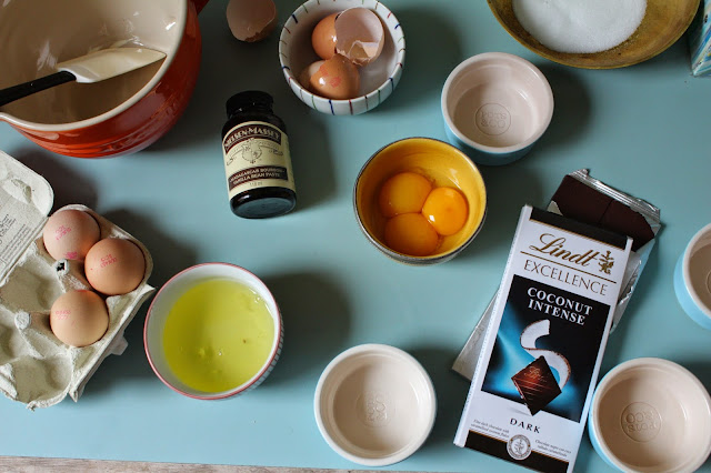 Lindt Luxury Dark Excellence Chocolate in a Coconut Creme Brulee Recipe