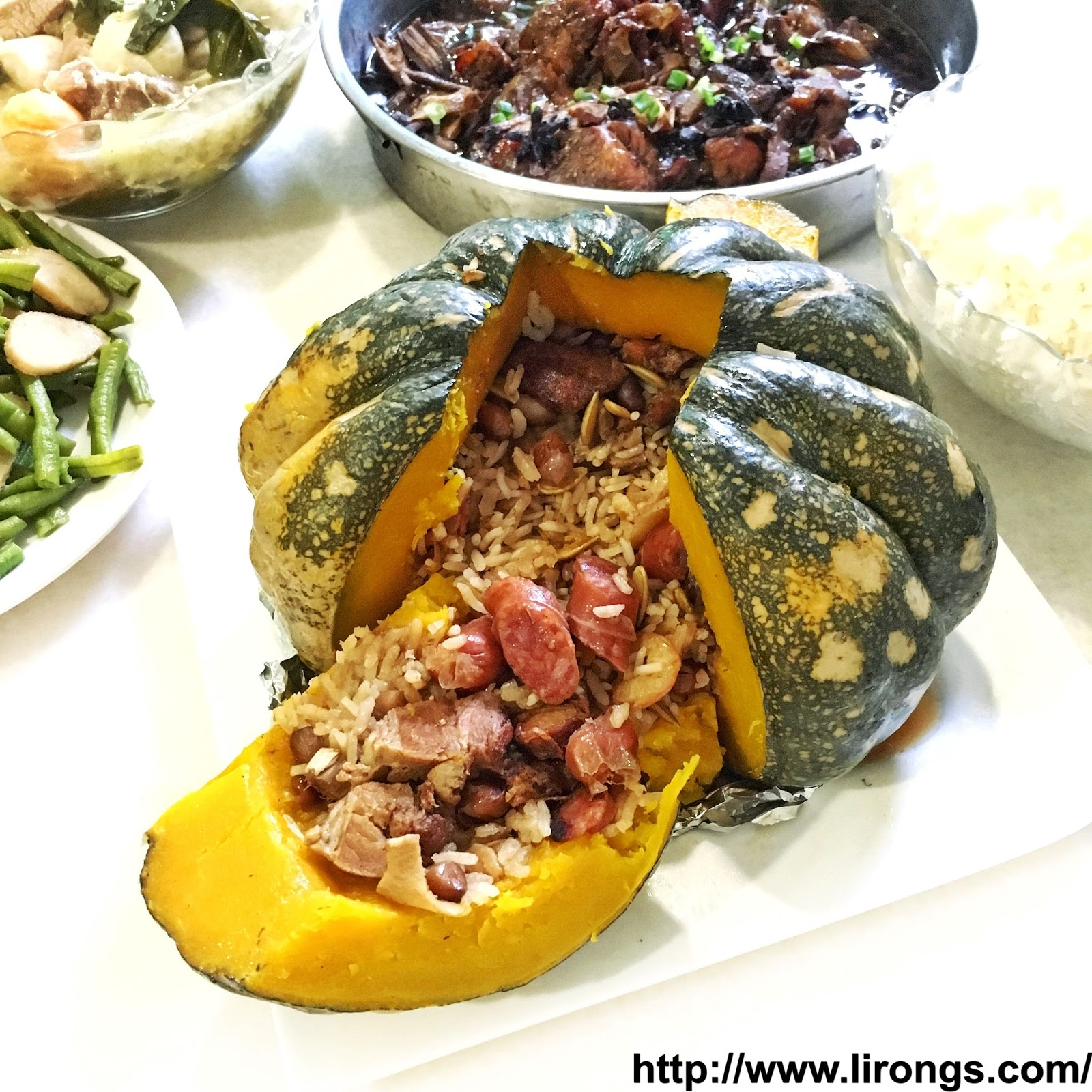 Lirong a singapore food and lifestyle blog recipe pumpkin rice recipe pumpkin rice bowl forumfinder Image collections