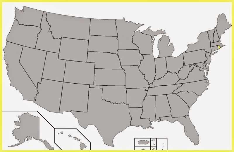 Mapa Rhode Island
