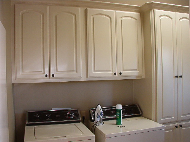 Home and garden laundry room cabinets laundry room for Laundry room cabinets ideas