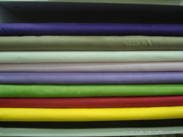 Telas Patchwork en colores lisos