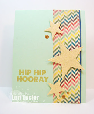 Hip Hip Hooray card-designed by Lori Tecler/Inking Aloud-stamps and dies from My Favorite Things