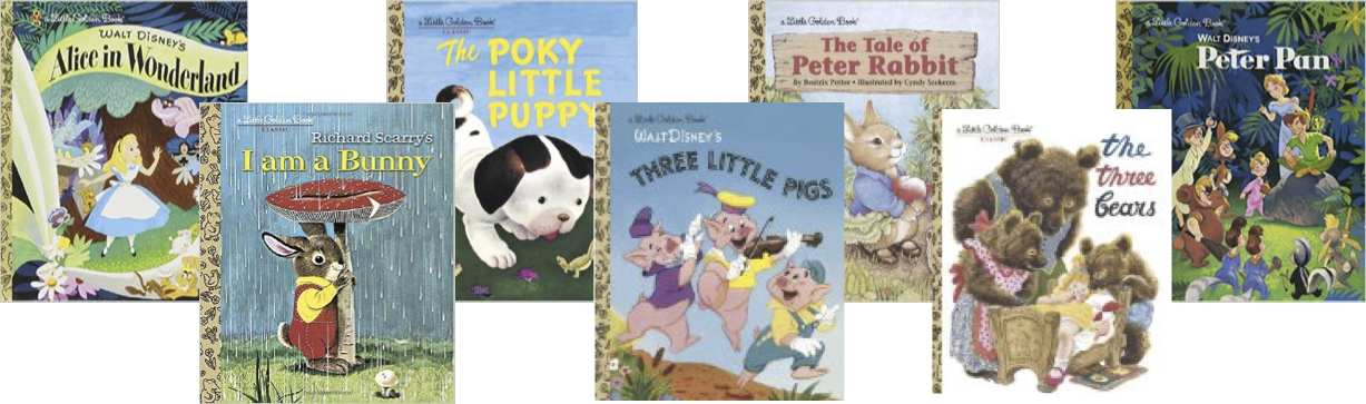 children's book cover art decor - little golden books