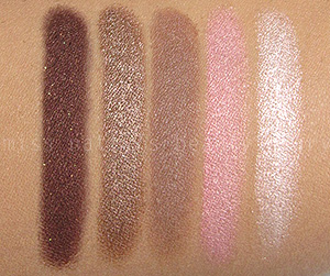 Dior Rosy Tan Eyeshadow Swatches