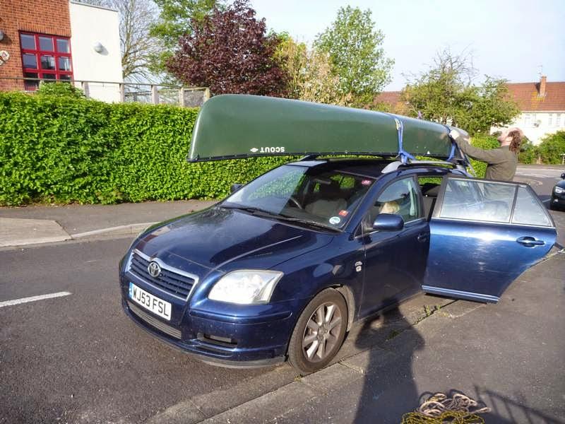 Canoe on car