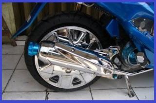 Airbrush_Modification_Yamaha_Mio_Exhaust