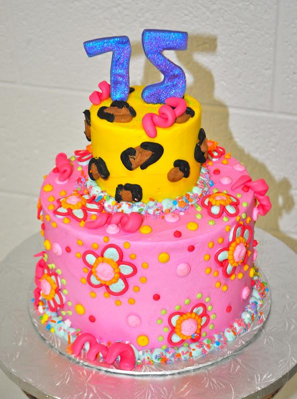 Leahs Sweet Treats Funky 75th Birthday Cake