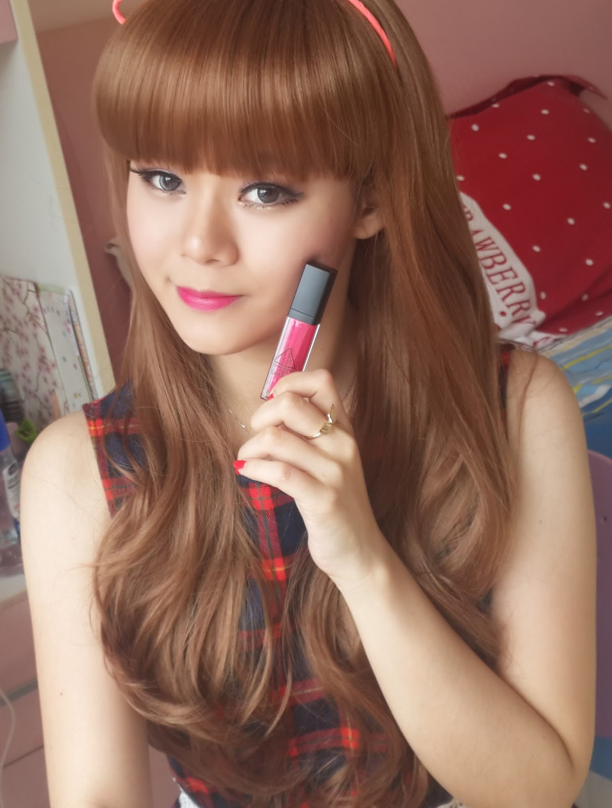 3ce lip lacquer pink boom xx orange