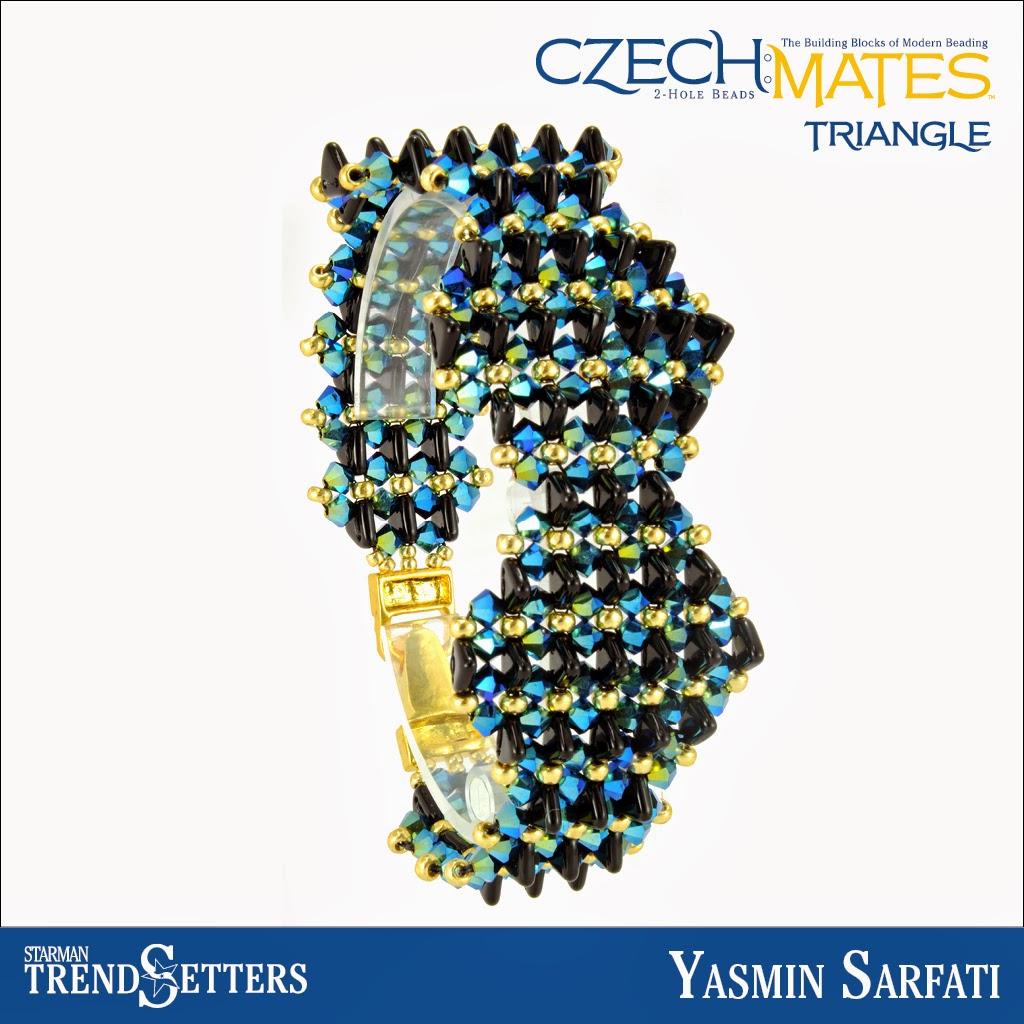 CzechMates Triangle bracelet by Starman TrendSetter Yasmin Sarfati