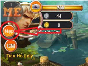 Hướng dẫn nạp Vàng trong game Thiên Thần Truyện